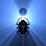 Símbolo de la flama del sol del escarabajo del escarabajo stock de ilustración