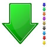 Símbolo de la flecha Fotos de archivo