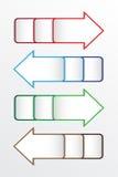 Símbolo de la flecha del vector en blanco Fotos de archivo
