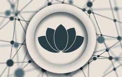 Símbolo de la flor de Lotus Fotografía de archivo