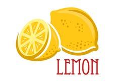Símbolo de la fruta del limón Fotos de archivo