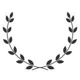 Símbolo de la guirnalda del laurel stock de ilustración