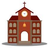 Símbolo de la iglesia para el diseño de la arquitectura de la religión ilustración del vector