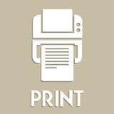 Símbolo de la impresión Foto de archivo