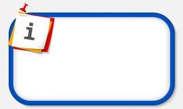 Símbolo de la información Imagen de archivo
