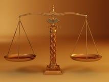 Símbolo de la justicia. Escala Fotografía de archivo