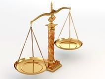 Símbolo de la justicia. Escala Imagen de archivo