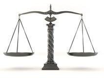 Símbolo de la justicia. Escala Imagen de archivo libre de regalías