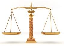 Símbolo de la justicia. Escala Fotografía de archivo libre de regalías