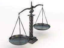 Símbolo de la justicia. Escala Fotos de archivo