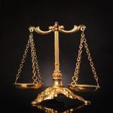 Símbolo de la justicia, escalas de la ley Imagen de archivo