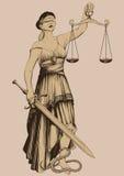 Símbolo de la justicia Femida Fotos de archivo