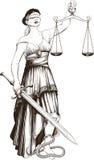 Símbolo de la justicia Femida Foto de archivo