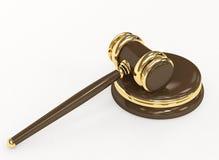 Símbolo de la justicia - mazo judicial 3d Imagen de archivo libre de regalías