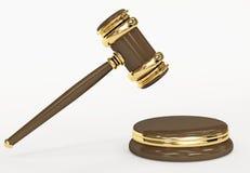 Símbolo de la justicia - mazo judicial 3d Foto de archivo libre de regalías