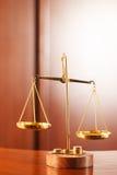 Símbolo de la ley y de la justicia Imágenes de archivo libres de regalías