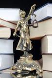 Símbolo de la ley y de la justicia Foto de archivo libre de regalías