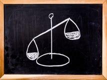 Símbolo de la ley y de la justicia Fotos de archivo