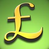 símbolo de la libra 3d Libre Illustration