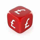 Símbolo de la libra en dados rojos Imagenes de archivo