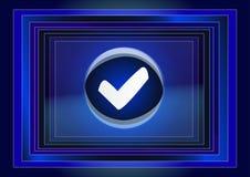 Símbolo de la lista de verificación Imagen de archivo libre de regalías