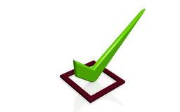 Símbolo de la lista de verificación Imágenes de archivo libres de regalías