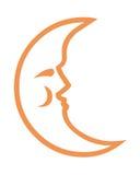 Símbolo de la luna Foto de archivo libre de regalías