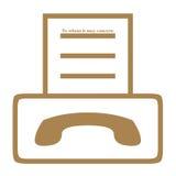 Símbolo de la máquina de fax Fotos de archivo