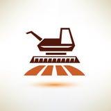 Símbolo de la máquina segador, concepto de la agricultura ilustración del vector