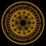 Símbolo de la mandala en un círculo que consiste en varios modelos y ornamentos libre illustration