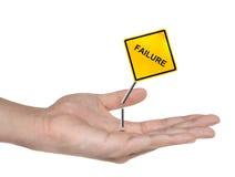 Símbolo de la mano con la muestra del incidente aislada Fotografía de archivo libre de regalías