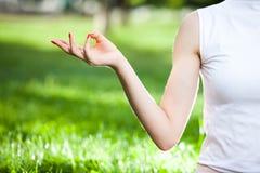 Símbolo de la mano de la yoga Imagen de archivo libre de regalías
