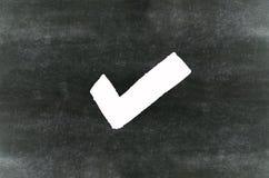 Símbolo de la marca de cotejo Imágenes de archivo libres de regalías