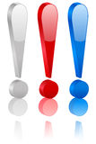 símbolo de la marca de exclamación 3D libre illustration