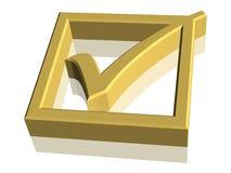 símbolo de la marca de verificación 3D Imagen de archivo libre de regalías