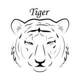 Símbolo de la mascota de la plantilla del emblema del logotipo de la cara del tigre para el negocio o el diseño de la camisa Elem Imagen de archivo