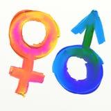 Símbolo de la masculinidad y de la feminidad Fotografía de archivo libre de regalías