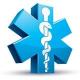 Símbolo de la medicina de la ambulancia de la emergencia Fotografía de archivo libre de regalías