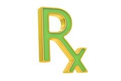 Símbolo de la medicina de la prescripción de RX Imagen de archivo libre de regalías