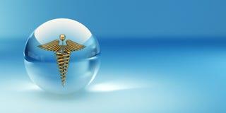 Símbolo de la medicina. Fondo abstracto ilustración del vector