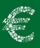 Símbolo de la moneda euro Imagen de archivo libre de regalías