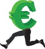 Símbolo de la moneda euro Foto de archivo libre de regalías