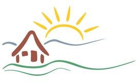 Símbolo de la montaña Foto de archivo libre de regalías