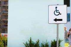 Símbolo de la muestra de la silla de ruedas Foto de archivo libre de regalías