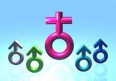 Símbolo de la mujer y del hombre Imagenes de archivo