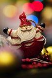 Símbolo de la Navidad Papá Noel en un trineo Fotografía de archivo