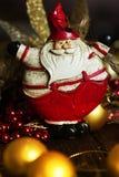Símbolo de la Navidad Papá Noel en un trineo Imagen de archivo libre de regalías