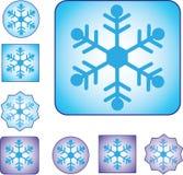 Símbolo de la nieve con tres modelos y dos colores foto de archivo libre de regalías