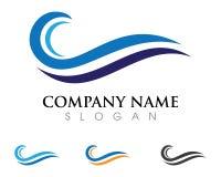 Símbolo de la onda de agua y logotipo del icono