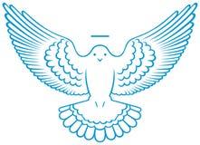 Símbolo de la paloma del vector Imagen de archivo libre de regalías